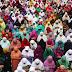 Kashmiri Muslims pray at the Hazratbal Shrine
