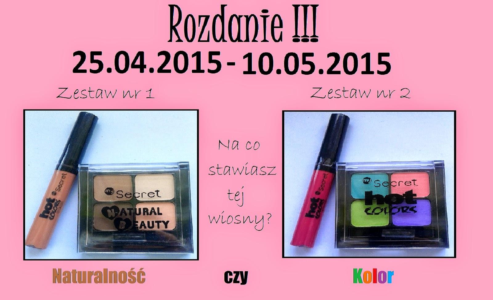 Rozdanie kosmetyków My Secret! :)