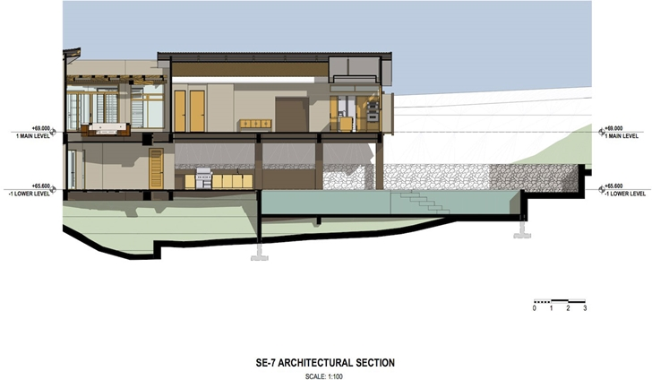 Section of Bartlett Home by SARCO Architects