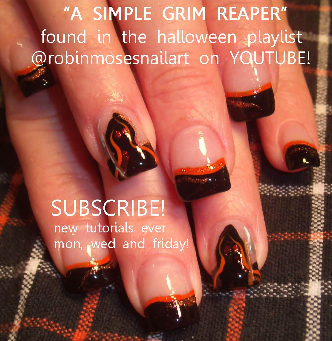 Nail Art Design: sugar skull nail, sugar skull clown, halloween nail ...