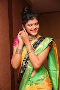Sangeetha Kamath dazzling saree photos-thumbnail-13