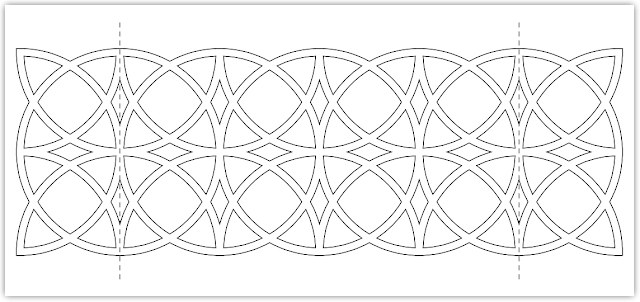 border circles free hand embroidery pattern