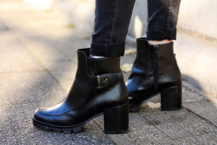 zign cleated platform ankle boots