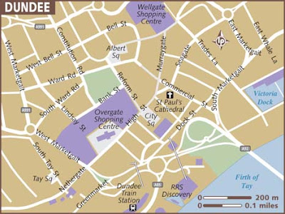 Map of Dundee City Pictures