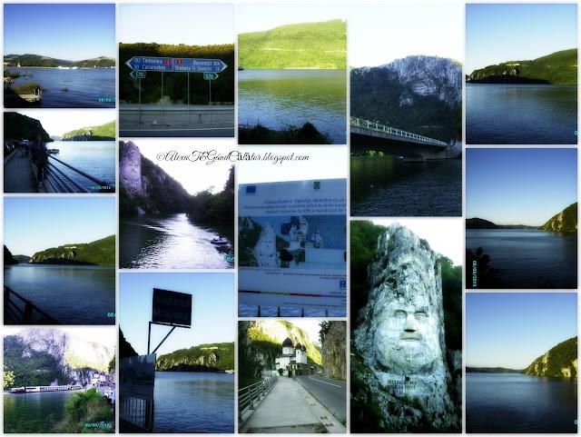 """""""Cazanele Dunării: Cazanele Dunării şi masivele Ciucarul Mare / Ciucarul Mic fac parte din Parcul Natural Porţile de Fier. Aproape de golful Mraconia, se poate observa, săpat in stâncă, chipul lui Decebal, statuia lui Decebal având dimensiunile 55 m - inălţime şi 25 m - lăţime."""" Mănăstirea Mraconia este situată la circa 20 km de Orşova, între satele Dubova şi Ieşelniţa, fiind aşezată chiar pe malul Dunării."""