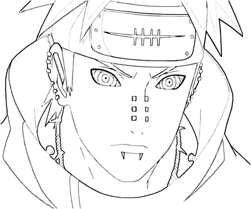 Naruto Yahiko Portrait Art Paper