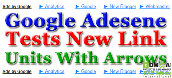 Google Adesene Tests New Link Units With Arrows