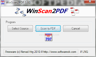 WinScan2PDF 1.66: Scan Documents and Save Them as a PDF
