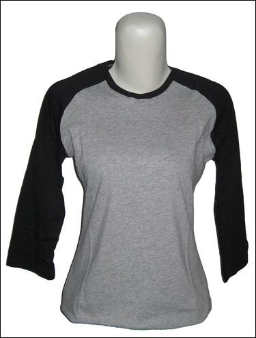model baju kaos raglan wanita berkualitas