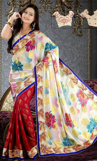Simple Sober Saree Design Collection 2015 For Women