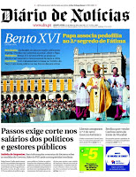 1.ª página do Diário de Notícias de 12/05/2010