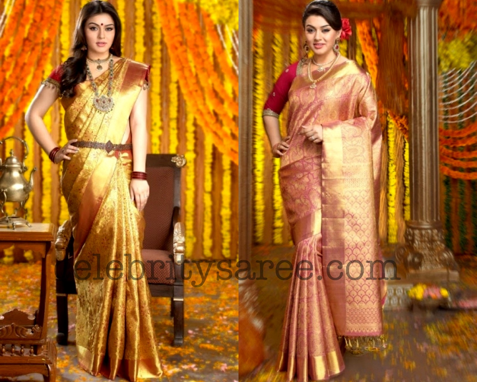 AURA: BRIDAL SAREES / WEDDING SILK SAREES