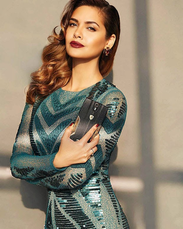 Esha Gupta on Cover of Exhibit Magazine November 2014
