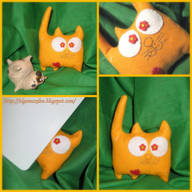 Котик из фетра своими руками фото 53