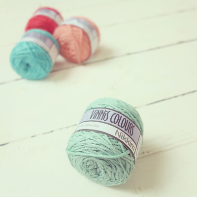 ByHaafner, Nikkim Vinnis cotton yarn, pastel, gift from Pigtails