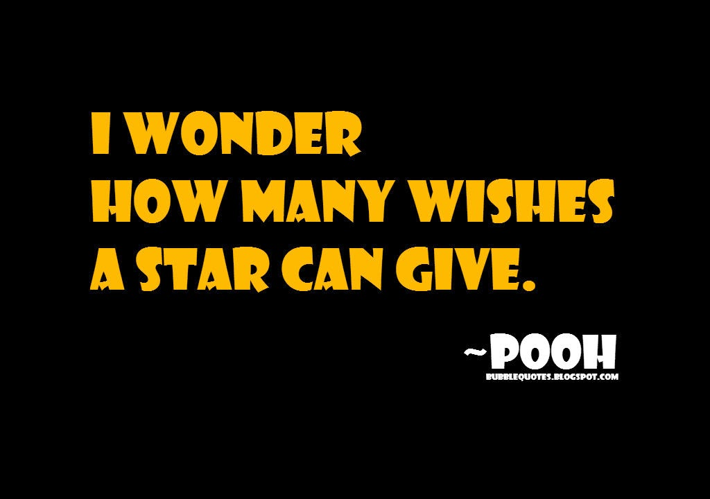 I wonder how many wishes a star can give image quote
