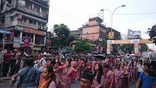 fulpati sobhayatra celebration siliguri