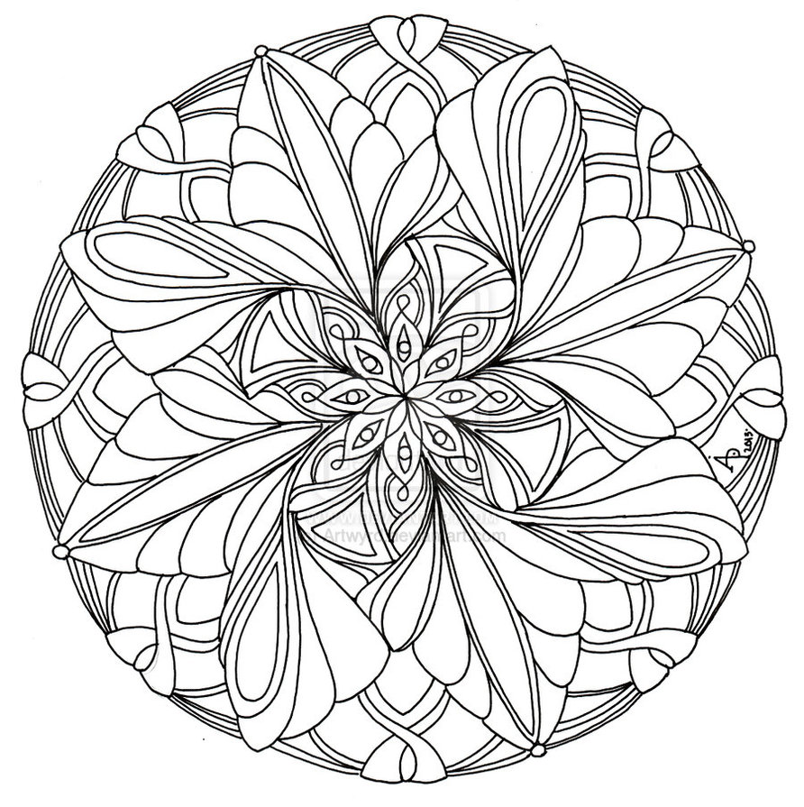 Coloring pages for teens with anxiety - Horse Mandala Coloring Pages Beautiful Mandala Coloring Page