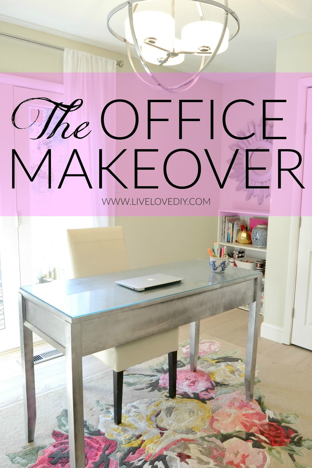 home office decorating ideas my latest office makeover - Pink Home 2015