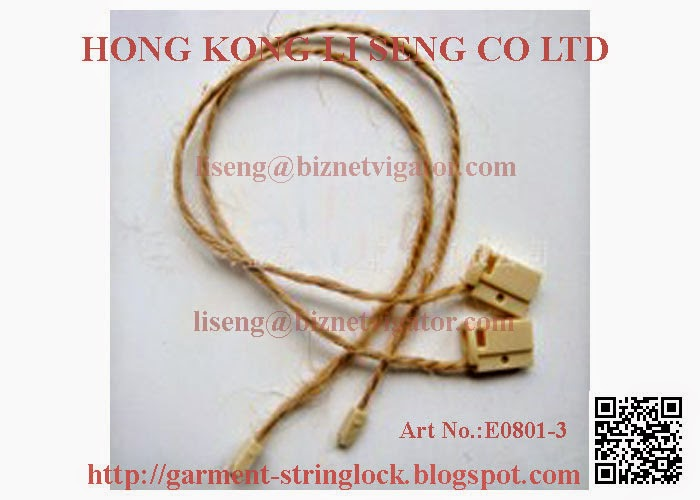 Garment Hemp Rope String Lock Pin Manufacturer - Hong Kong Li Seng Co Ltd Garment Accessories Suppy