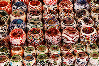 Oriental Candle Holders by Peter Kratochvil