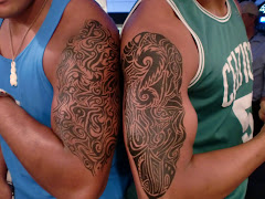 "Tribal ""Tattoos"" Face Painting Style"