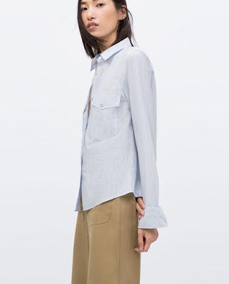 Zara Striped Studio Shirt