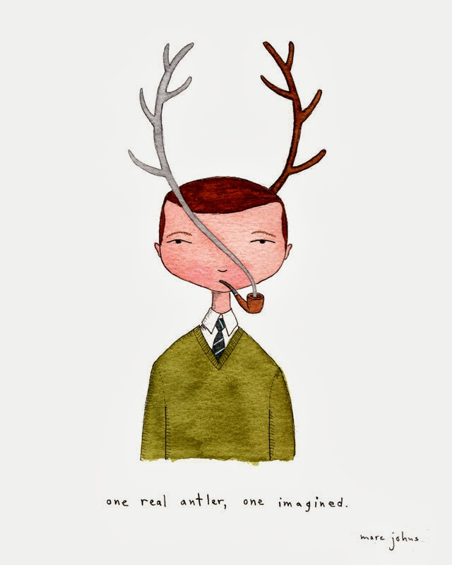 man with antlers marc johns