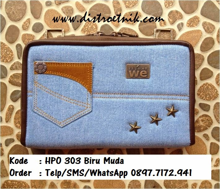 dompet jeans it jus we hpo 303 series biru muda