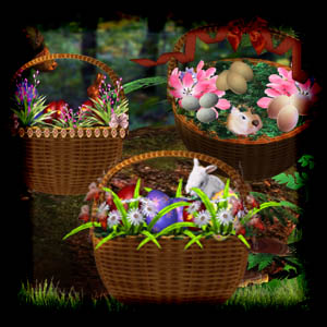 Free scrapbook Easter Basket High Quality from Mgtcs Digital Art Stuff
