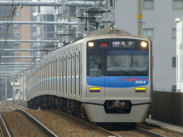 京浜急行電鉄 緑のエアポート快特 高砂行き 3050形