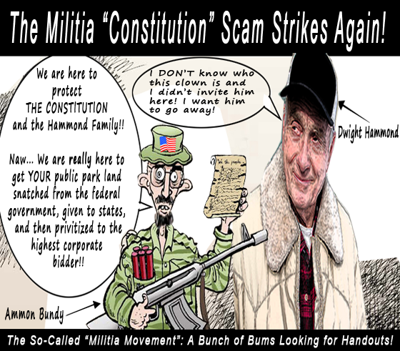 """Citizens for Constitutional Freedom"" - The Militia is a Scam - Bundy"