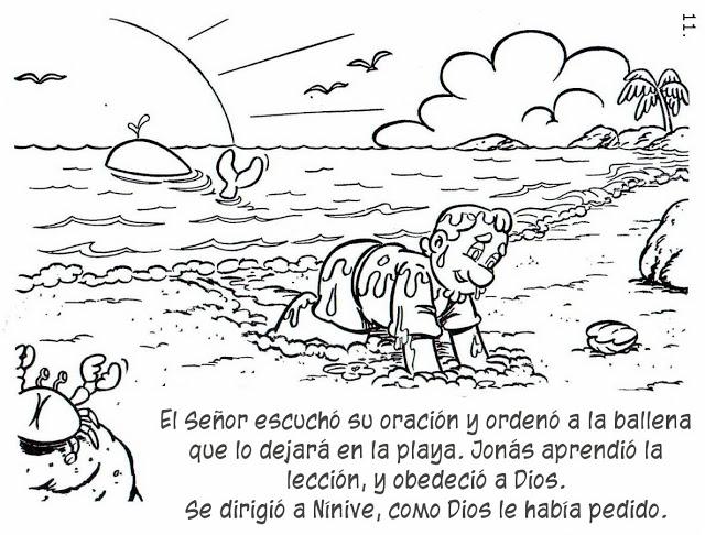 Increíble Páginas Para Colorear De Jonás Y La Ballena Patrón - Ideas ...