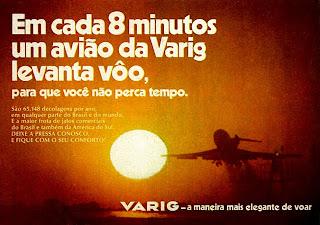 propaganda Varig - 1972. Reclame Varig 1972. 1972; os anos 70; propaganda na década de 70; Brazil in the 70s, história anos 70; Oswaldo Hernandez;