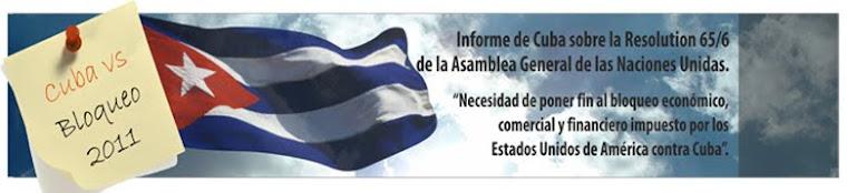 INFORME DE CUBA SOBRE EL BLOQUEO