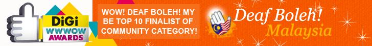 Deaf Boleh! Malaysia become top 10 finalist of Community Category
