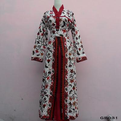 Model Gamis Batik Muslim Kaftan Artis
