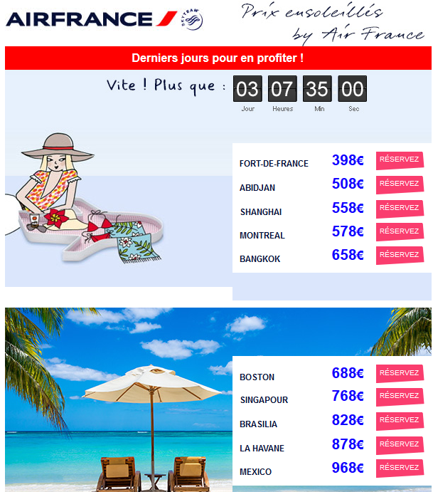 Promos Air France