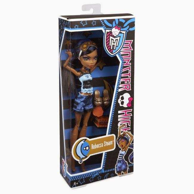 TOYS : JUGUETES - MONSTER HIGH   Dead Tired : Muertas de Sueños - Robecca Steam : Muñeca | Doll  Producto Oficial 2013 | Mattel BBR77 | A partir de 6 años