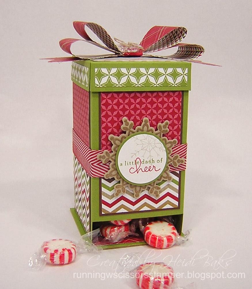 Runningwscissorsstamper christmas candy dispenser box
