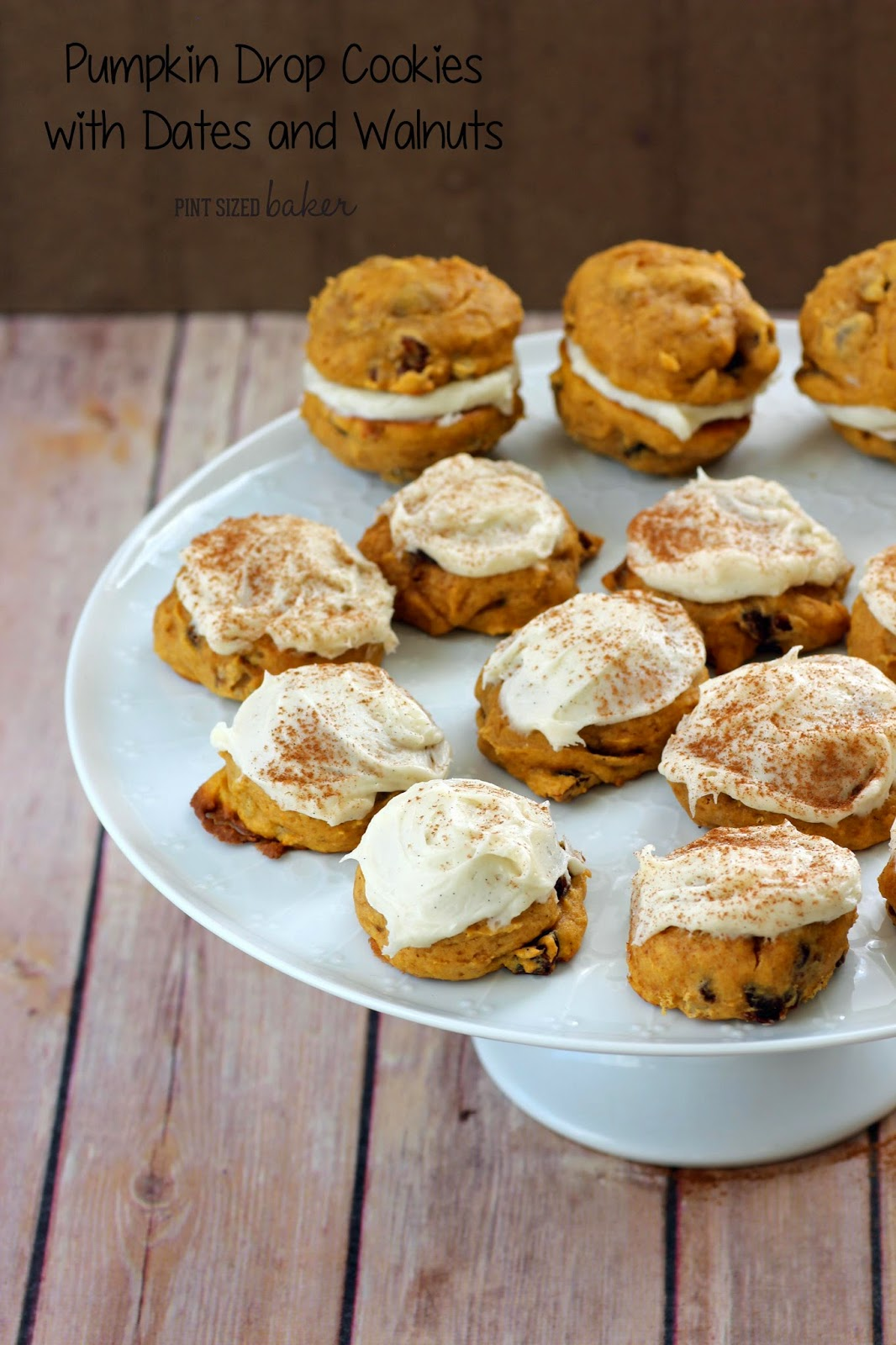 Spicy Pumpkin Date Cookies with Cream Cheese Frosting #OXOGoodCookie