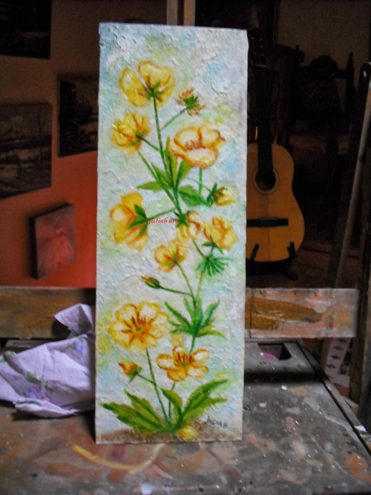 La maison degli incanti fiori ad olio for Fiori ad olio