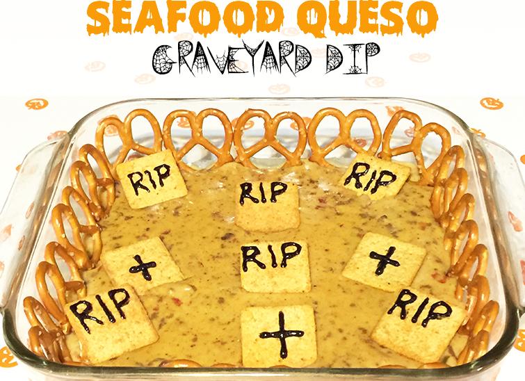 seafood queso graveyard dip