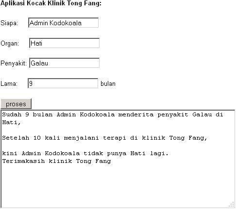 Aplikasi Kocak Klinik Tong Fang