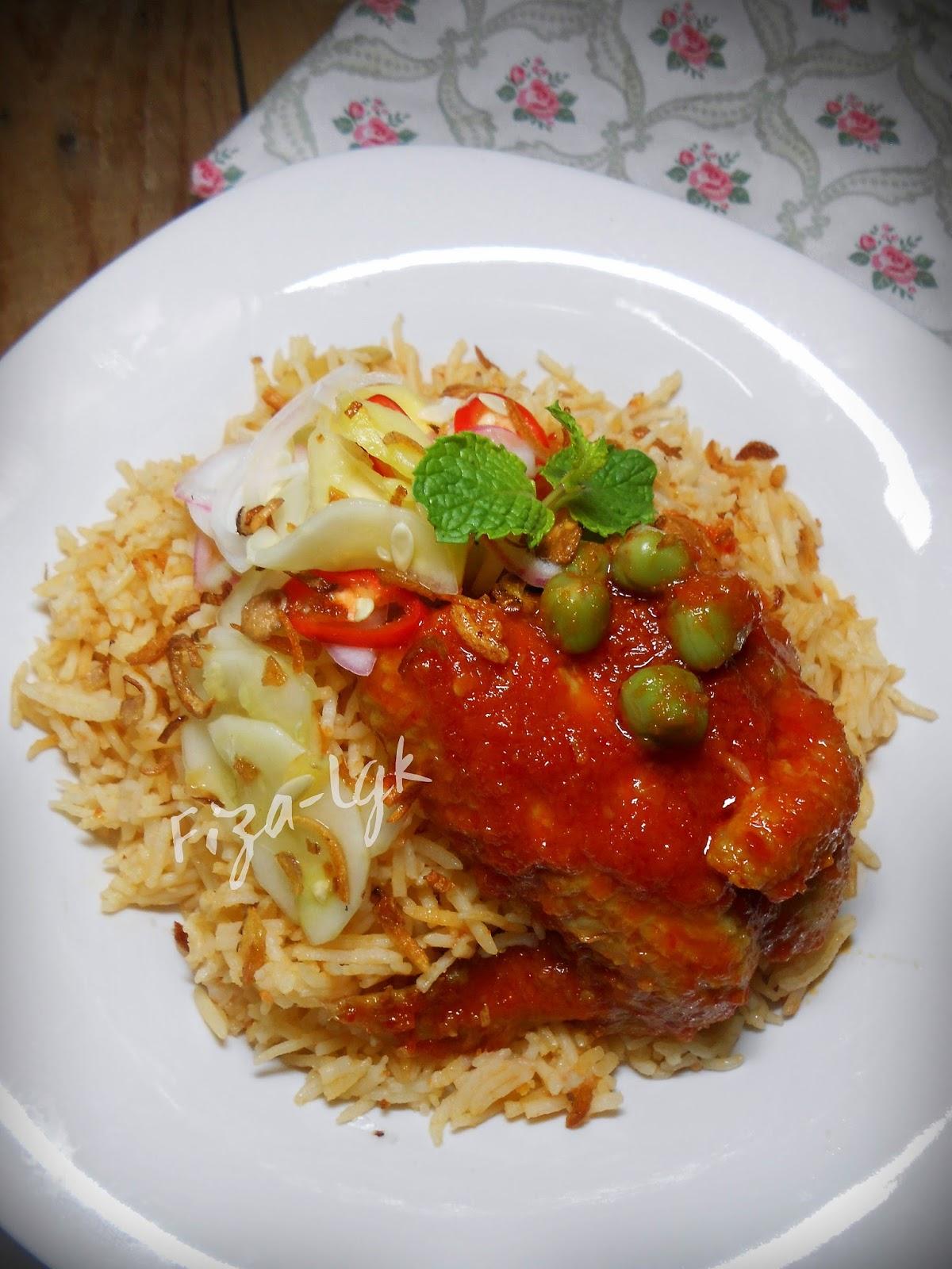 Nasi Tomato Dan Ayam Masak Merah Fiza S Cooking