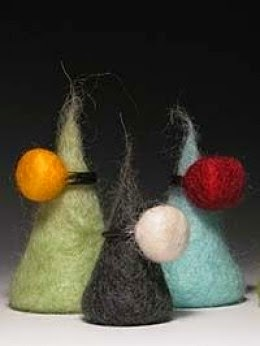 felt bead rings by Chris Rom and Geoff Buddie