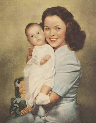 Shirley Temple and daughter Linda Susan Agar, September 1948.