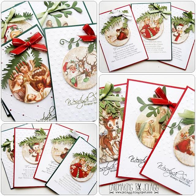Kartki bożonarodzeniowe na kiermasz szkolny