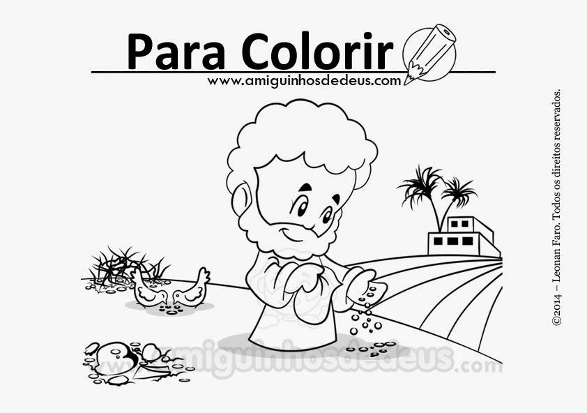 parábola do semeador desenho para colorir