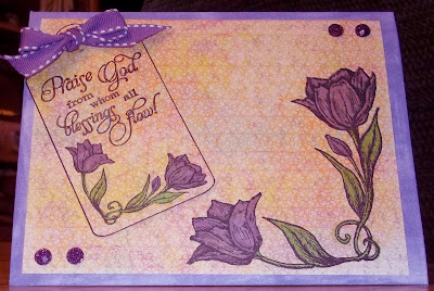 Our Daily Bread Designs, Tulip Tag, Tulip Corner, Blessings, ODBD Blooming Garden Paper Collection
